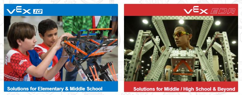 screenshots from VEX Robotics website