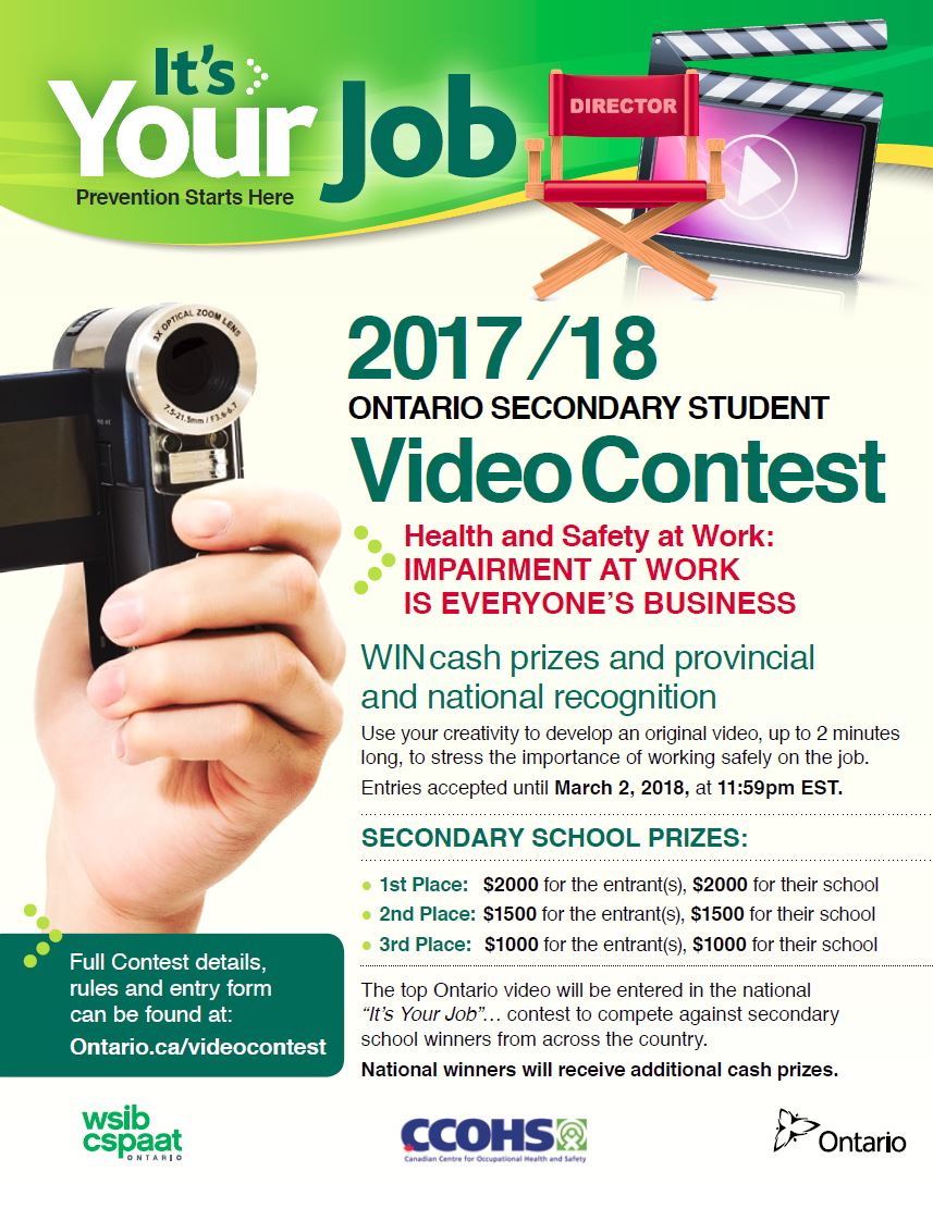 """It's Your Job"" poster with link to contest website"
