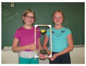 Two students with completed periscope