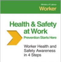 Health and Safety training workbook cover